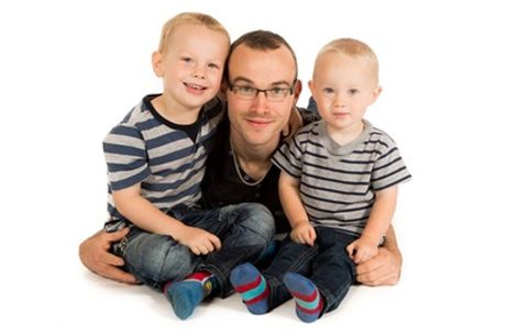 Father's Day Family Photoshoot With Prints and Keyrings at Memories Portrait Photographers
