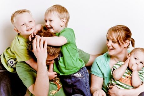 Family, Newborn or Boudoir Photoshoot With Prints and Voucher at Delamotte Studio