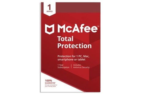 McAfee Total Protection 2021 One Device for One Year