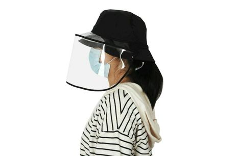 £6.99 (from CN Direct Biz) for a protective anti-fog visor hat!