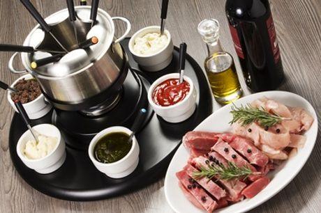 3-gangenmenu met aperitief en onbeperkt vleesfondue voor 2 of 4 personen vanaf € 79,99 bij Met Jeannine in Etterbeek