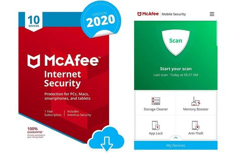 £12.99 instead of £19.99 for one-year subscription to McAfee Internet Security 2020 from Download Buyer  - save 35%