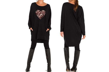 £9.99 (from Want Clothing) for an oversized leopard print heart top!