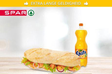 Afhalen: broodje + frisdrank bij Spar City