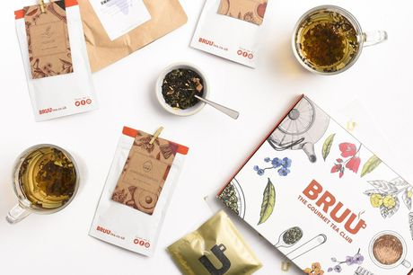 £5 instead of £10 for a one-month mystery team box subscription, or £14 for a three-month subscription from BRUU - get tailored teas delivered straight through your letterbox and save up to 50%