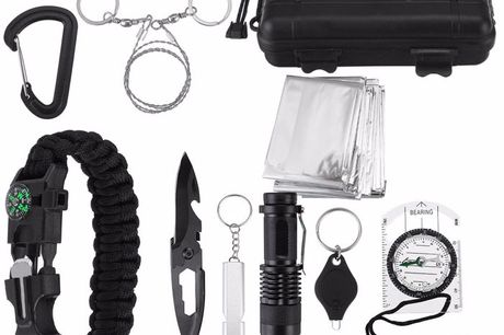Post-apocalypse Tactical Survival Gear. Light weight will not add much heavy on your journey. Can be a best gift for adventure club members and adventurer. Multi-functional tools suitable for different needs when you are in the wild. Waterproof and shockp