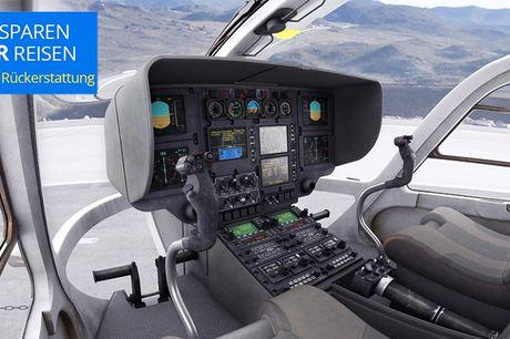 99 € -- Schönefeld: Helikopter fliegen im EC135-Simulator. Schnallen Sie sich an und heben Sie ab: Retten Sie per Hubschrauber Verletzte aus den Bergen oder kreisen Sie über Manhattan