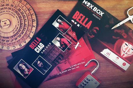 Escape spel voor thuis 'Bella Ciao' Een interactief spel gebaseerd op de Netflix serie'La Casa de Papel'. Elke kaart is bezaaid met puzzels, cijfers en raadsels over dit spannende verhaal! Los jij dit mysterie op?
