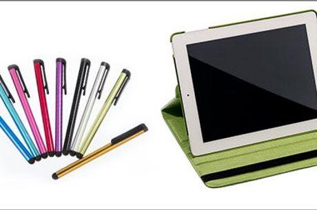 Forkæl din iPad med et nyt lækkert cover m.m.! - iPad cover 360 + 3 touchpenne fra Smileyphone, værdi kr. 499,-