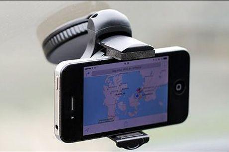 Universal smartphone holder til bilen - smart og praktisk! - Universal smartphone holder til bilen, inkl. fragt, værdi kr. 269