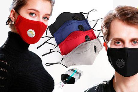 Genanvendelige ansigtsmasker med aktivt kulfilter