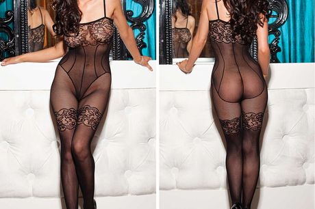 £7.99 (from My Voguish) for a floral lace and fishnet body stocking