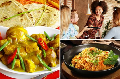 Afhalen: maaltijd met nasi, bami of roti + drankje