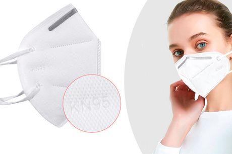 KN95 - Genbrugelige mund-masker med høj partikelfiltrering - 5 & 10 pak