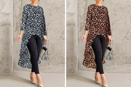 £8.99 instead of £29.99 (from Domo Secret) for a high-low hem leopard print top - save 70%