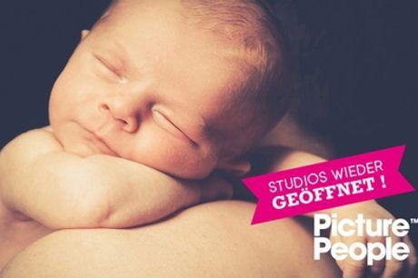 BABY-Fotoshooting bei PicturePeople inkl. Make-up und 3-4 Bildern als Ausdruck und Datei (bis zu 76% sparen*)