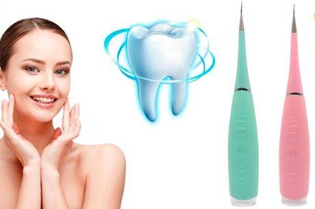 Transporterbar tandrenser der giver rene tænder uden plak og tandsten