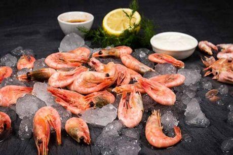 3-Gänge-Gourmet-Menü mit flambierten Wildfang-Gambas für 2 Personen im Fisch-Restaurant Austernbank (34% sparen*)