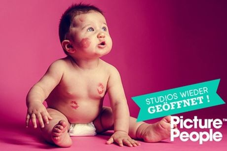 """3 Fotoshootings """"Babypass"""" vom Babybauch bis zum Babyfoto + Make-up und Bilder bei Picture People (55% sparen*)"""
