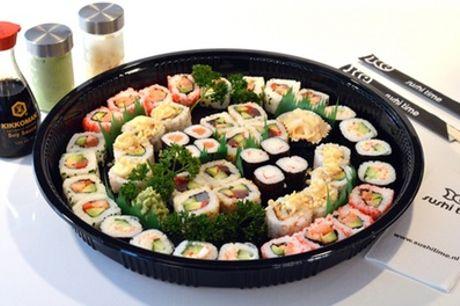 Sushiboxen met 20, 24 of 40 stuks om af te halen bij Sushi Time Baarn