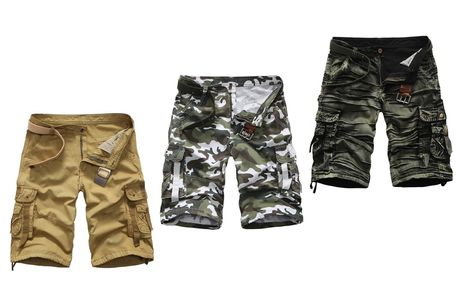 £14.99 instead of £49.99 (from Domo Secret) for a pair of men's cargo shorts - choose your size and colour and save 70%