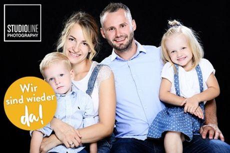 Family/Kids-Fotoshooting + Make-up + 3-5 Bilder (Datei & Abzug) bei STUDIOLINE PHOTOGRAPHY (bis zu 73% sparen*)