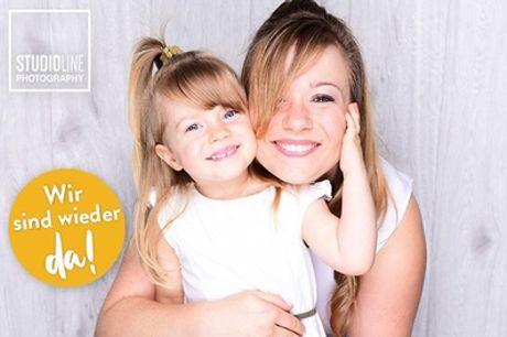 Mami&Kids-Fotoshooting-Event + Make-up + Bilder (Datei & Abzug) bei STUDIOLINE PHOTOGRAPHY (bis zu 82% sparen*)