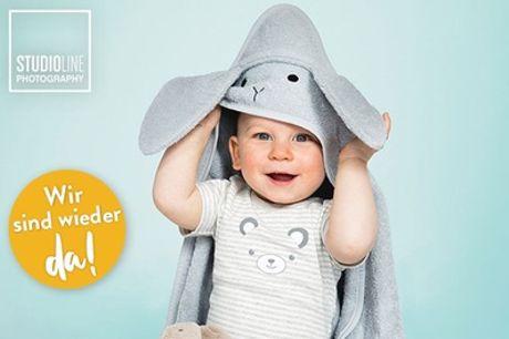 Baby-Fotoshooting-Event inkl. 3-5 Bildern als Datei und Abzug bei STUDIOLINE PHOTOGRAPHY (bis zu 73% sparen*)