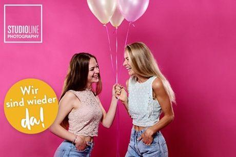 GIRLFRIENDS-Fotoshooting + Make-up + 3-5 Bilder (Datei & Abzug) bei STUDIOLINE PHOTOGRAPHY (bis zu 73% sparen*)