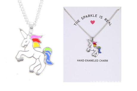 £3.99 instead of £29 (from Styled By) for a rainbow unicorn necklace - save 86%