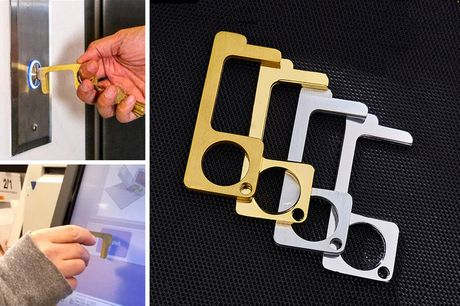 £4.99 instead of £19.99 (from Flashing Pineapple) for a metal no-touch door opener or £8.99 for two metal no-touch door openers - save up to 75%