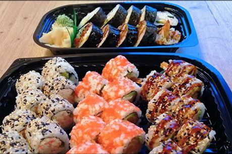 Super pris på 34 stk. sushi - Takeaway - Flot ser det ud og det smager lækkert. Med dealen får du 34 stk. takeaway sushi fra YakiYaki Sushi. Værdi kr. 311,-