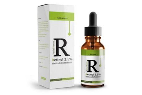 2,5% Retinol-gezichtsolie met vitamine A, C en E en Lanthome-kruidenextracten