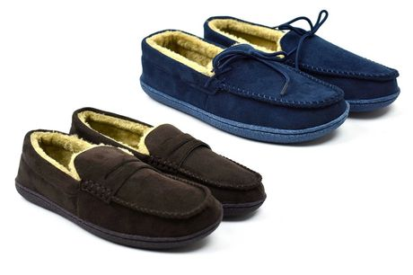 £14.99 (from Beta Shoes) for a pair of men's slippers, choose from six colours