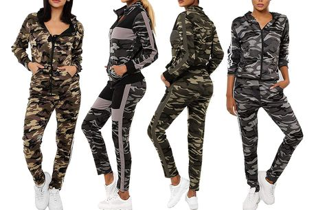 £14 (from Want Clothing) for a camouflage two-piece tracksuit - choose from two designs and three colours