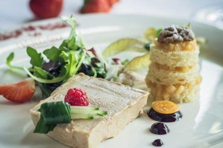 Gourmet-Dinner in 3 Gängen mit Weinverkostung für bis zu 4 Personen in der Ganymed Brasserie (44% sparen*)