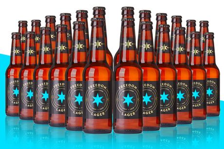 £24 for a 24-bottle beer case of Freedom Lager from Freedom Brewery