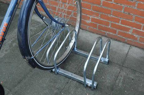 Dunlop fietsenrek Geschikt voor 2 fietsen  Voor banden tot ca. 5cm breed  Incl. bevestigingsmateriaal
