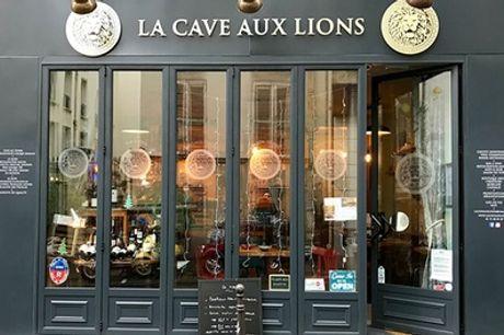 """Cours d'œnologie """"Tour de France"""" de 2h et dégustation de vin pour 1 ou 2 pers. à La Cave Aux Lions"""