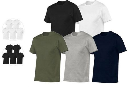 5x Pierre Calvini Basic T-Shirt | Heren