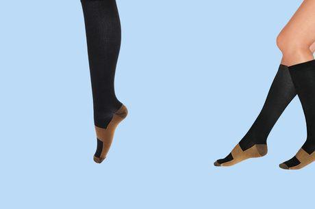 2 paar compressiesokken Helpt bij pijnlijke spieren<br /> Ondersteunt bij spiermoeheid <br /> Geliefd bij hardlopers