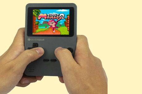 Mini arcade spelcomputer Met wel 240 spellen!<br /> Nostalgische Gameboy look<br /> Voor kinderen en volwassenen