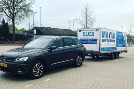 """Aanhanger-rijbewijs (""""E achter B""""):5 uur autorijles incl. examen bij Mayar Rijopleidingen in Utrecht, Leusden of Tiel"""