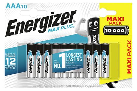 10, 20 or 50 Energizer Max Plus AAA Batteries     Energizer's number 1 longest lasting alkaline batteries     Provide powerful performance to your devices     Have an extra long 12 year shelf life     Leakage protection forup to 2 years onfully-used