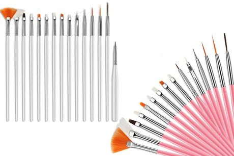 £5.99 instead of £29.99 for a 15pc nail art manicure brush set from Magic Trend - save 80%