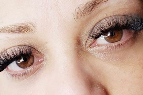 Full Set of Natural or Volume Eyelash Extensions at MFlashed (Up to 27% Off)