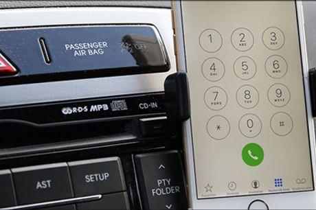Med holderen ved du altid hvor din mobil er! - Køb 1 stk. mobilholder til bilen forhandlet fra Smileyphone, værdi kr. 199,-