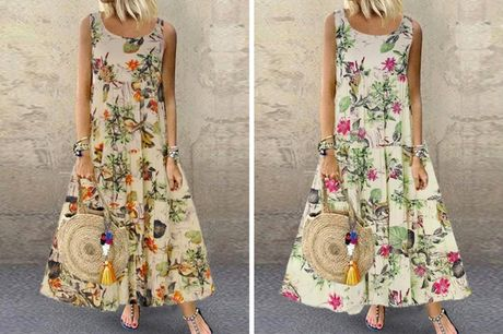 £11.99 instead of £29.99 (from Domo Secret) for a floral summer maxi dress – choose from two colours and save 60%
