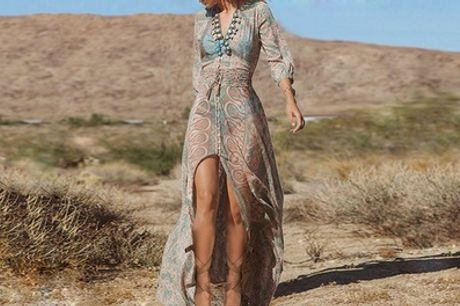 Vestido largo bohemio para mujer