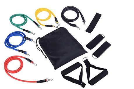£7.99 (from hey4beauty) for an 11-piece resistance band set
